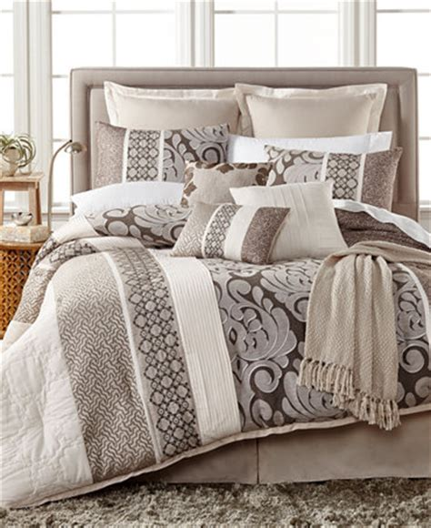 macys bedding sets leighton 10 pc comforter set only at macy s bed in a