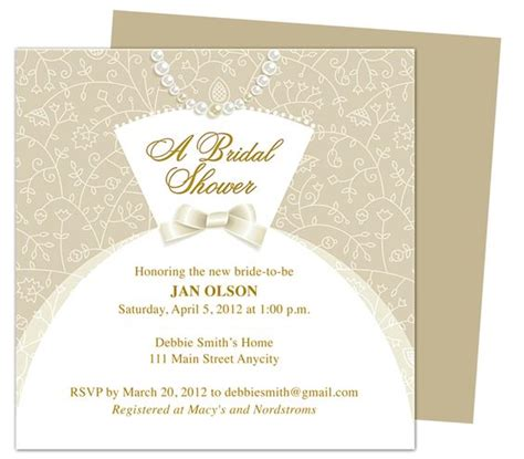 invitation templates for pages mac dress bridal shower invitation templates printable diy