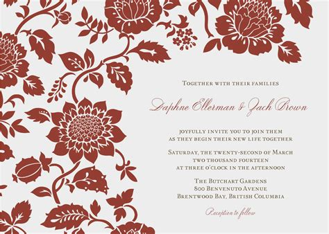 simple invitation template invitation word templates free wedding invitation