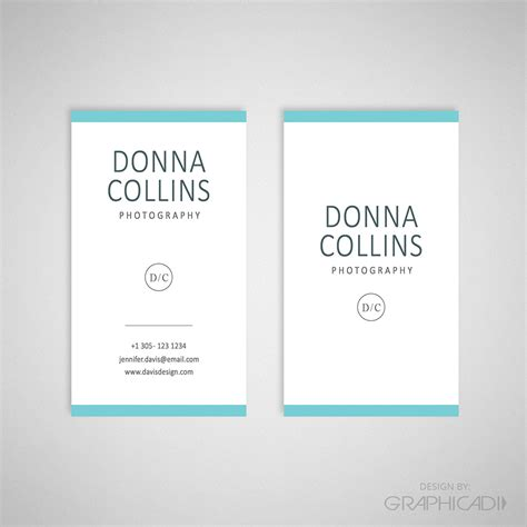 business card template lightroom business card template 07 graphicadi