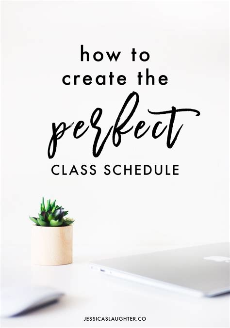 how to make your class schedule campus basement