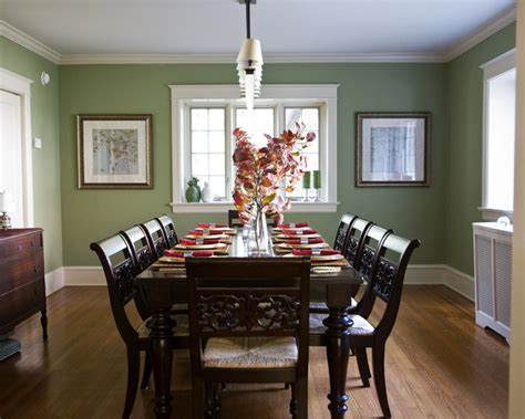 Houzz Green Dining Room Traditional And Cranberry Dining Room