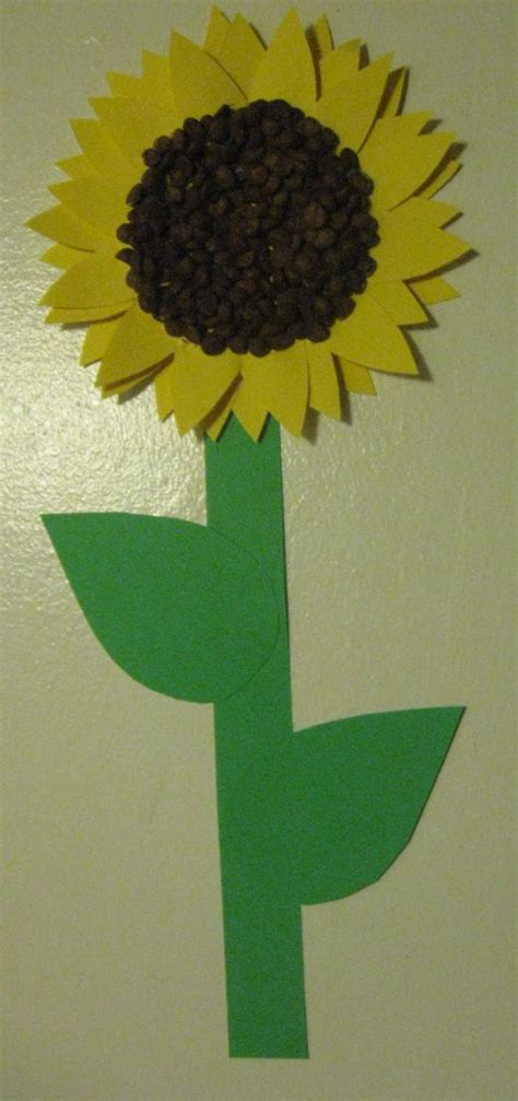 sunflower crafts for preschool craft sunflowers free printable template