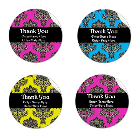 thank you sticker template thank you label template microsoft word templates