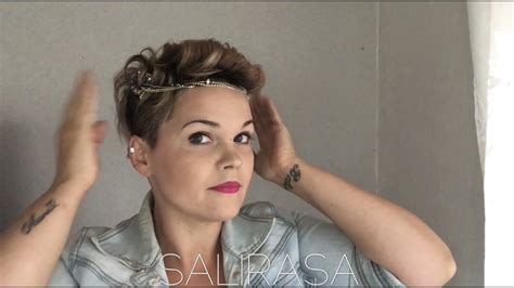 Easy Hairstyle Accessories by Easy Hairstyle For A Pixiecut Style With Accessories