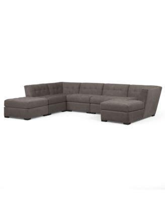 roxanne fabric 6 modular sectional sofa macys