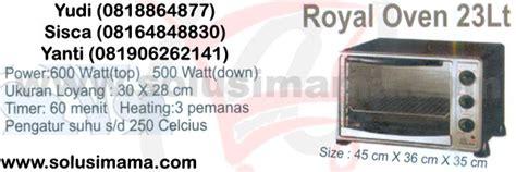 Oven Signora Royal solusi royal oven 23lt