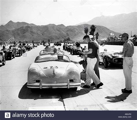 porsche speedster james dean james dean in a 1950s california car race event stock