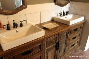 Dresser Vanities by Turning A Dresser Into A Bathroom Vanity The Weekend