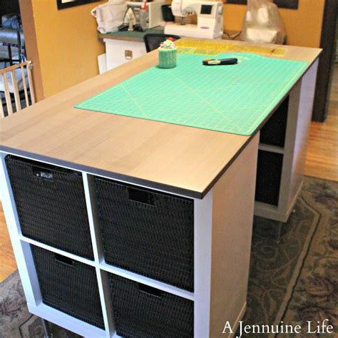 Diy Counter Height Craft Table Life Table Cutting Diy Craft Desk With Storage