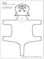 Folding Paper Animals Templates - tigers paper animals and templates on