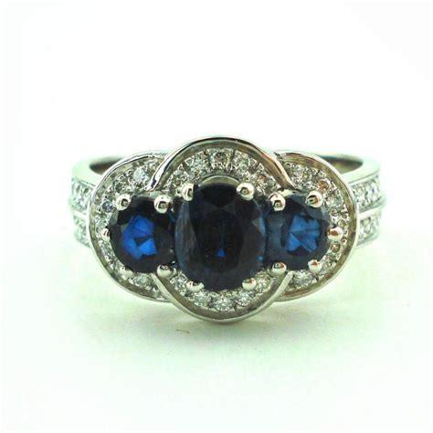 1 7 carat sapphire engagement ring white gold ring