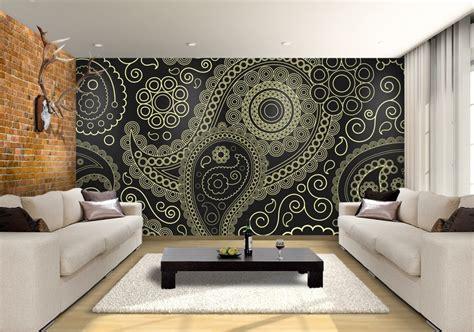 paisley custom wallpaper mural print  jw shutterstock
