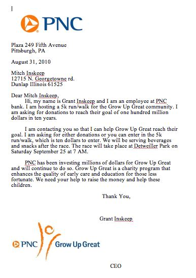 charity partnership letter grant inskeep s technology class september 2010