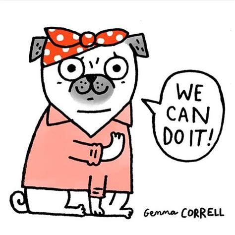 we it we can do it gemma correll blank card i pugs