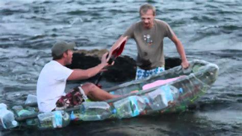 boat pet r the plastic marathon a 27 mile paddle in a plastic