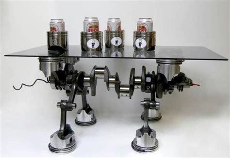 Engine Furniture by Piston Engine Table Upcycled Auto Parts
