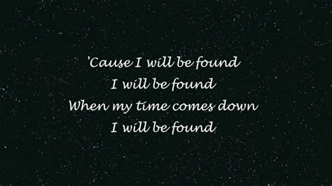 A Place Lyrics We Lost The Sea Mayer I Will Be Found Lost At Sea Lyrics Hd