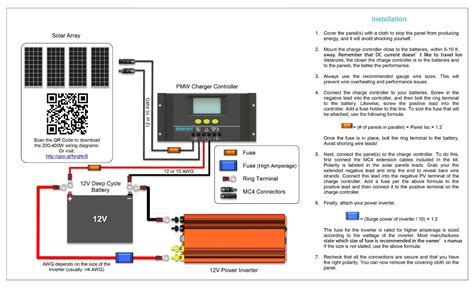 solar panel to battery wiring diagram 12v solar panel