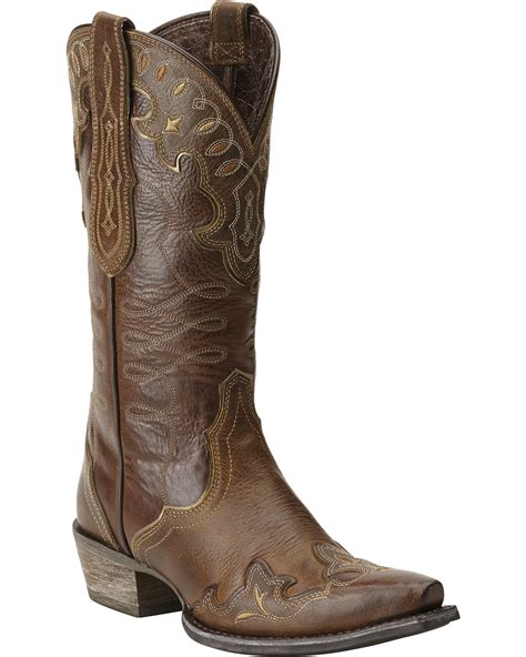 womans western boots ariat s zealous wingtip western boots boot barn