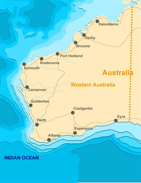 map western australia western australia sights