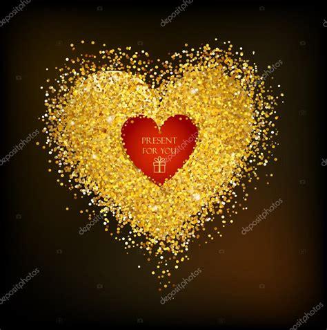 cornici a forma di cuore cornice dorata a forma di cuore vettoriali stock