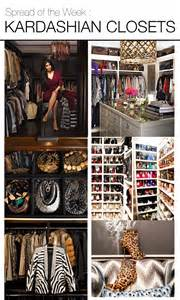 Organizing Walk In Closet - spread of the week kardashian closets mountain home decor