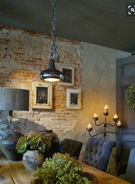 brick plaster walls classic dining room farmhouse