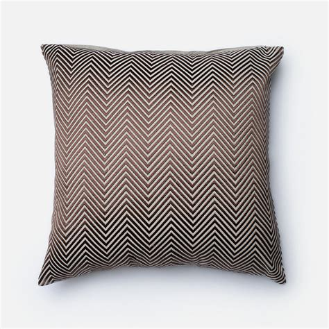 Traditional Pillows by Brown Chevron Throw Pillow Traditional Decorative