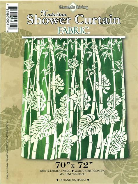 hawaiian curtain fabric hawaiian tropical fabric shower curtain sage bamboo