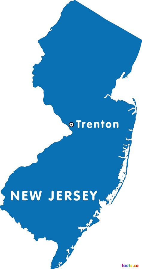 new jersey capital of new jersey map
