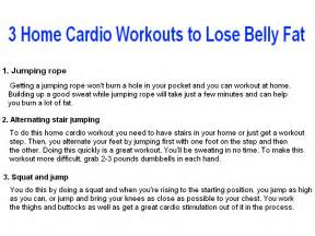 how to lose belly fast at home 3 home cardio workouts to lose belly