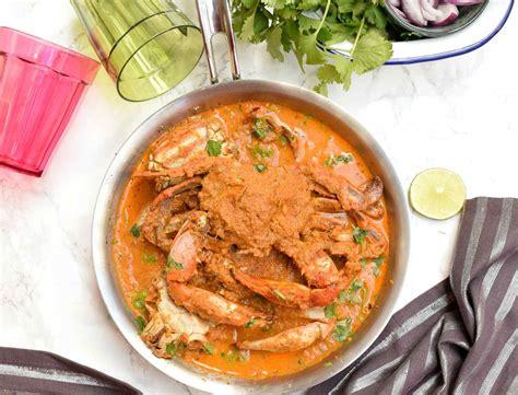 gauan style goan crab masala recipe goan style crab curry by archana