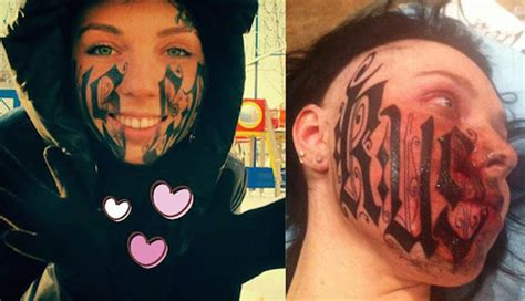 9 unbelievable face tattoos oddee