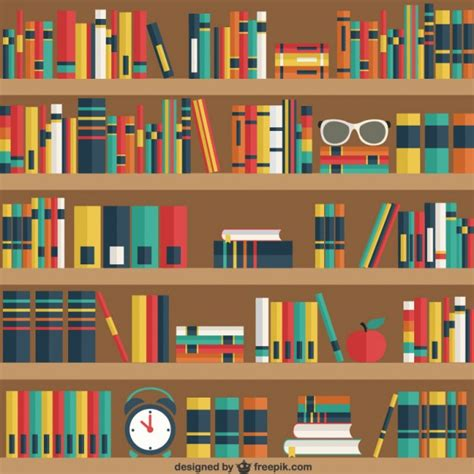 estantes para libros gratis estantes con los libros descargar vectores gratis