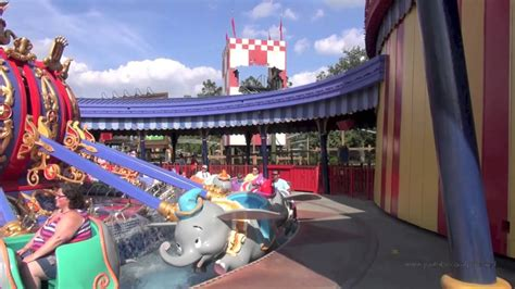 dumbo  flying elephant complete ride experience full pov ride  interactive queue magic