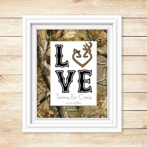 camouflage home decor camo wedding gift camo shower gift camo decor