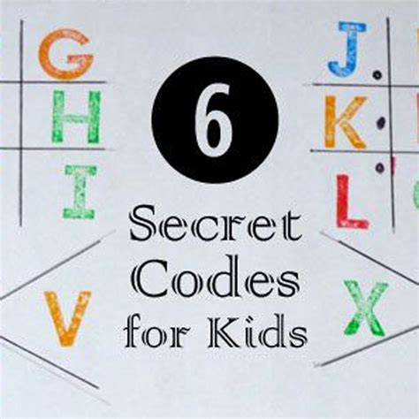 secret hints 6 secret code activities and ideas for