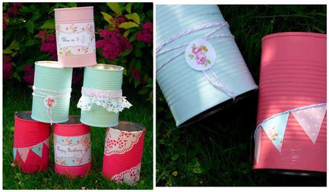 decorar latas papel decorar con latas pintadas