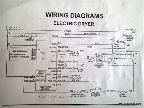 wiring diagram for electric clothes dryer oven wiring