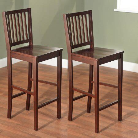 high back wooden bar stools buy wood high back bar stools shaker set of 2 30 inch