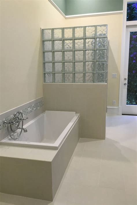 glass blocks bathroom walls learn how this glass block shower wall was prefabricated