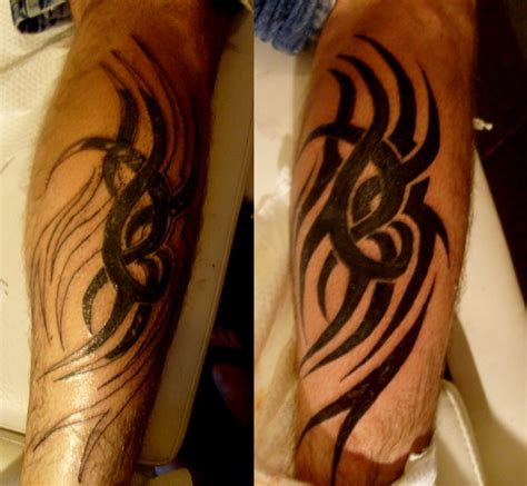 black ink tattoos for men amazing black ink tribal on arm for