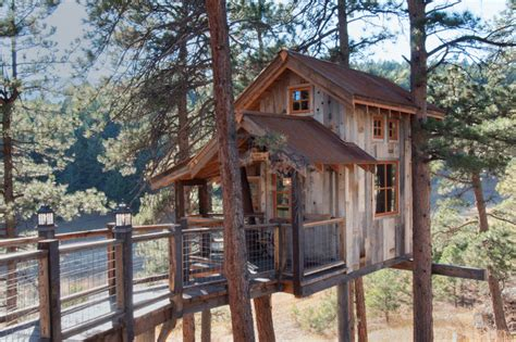 Tree House With Natureage Siding Rustic Exterior Other By Trestlewood