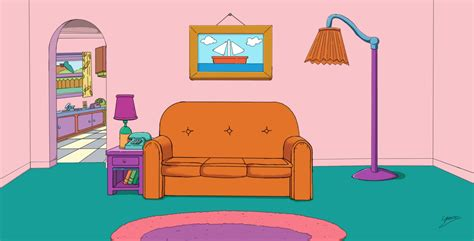 Simpsons Living Room | the simpsons living room by fullmetal870 on deviantart