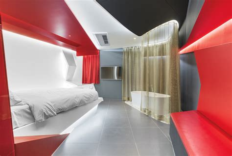 boutique hotel bedroom design bullfights and tangos inspired lim seungmo s boutique hotel room design in seoul