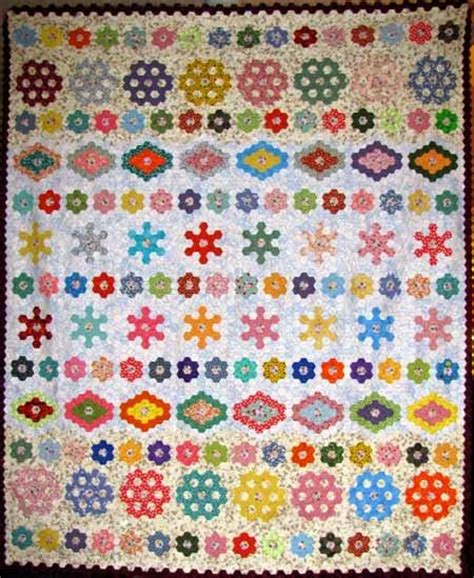 Hexagon Patchwork Patterns Free - 1000 images about row quilts on quilt
