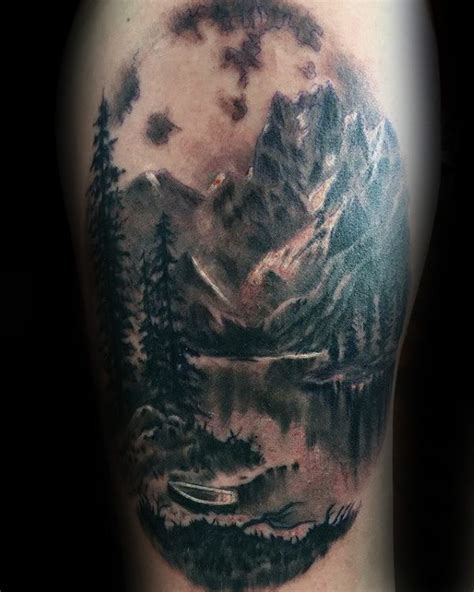 landscape tattoos 90 landscape tattoos for scenic design ideas