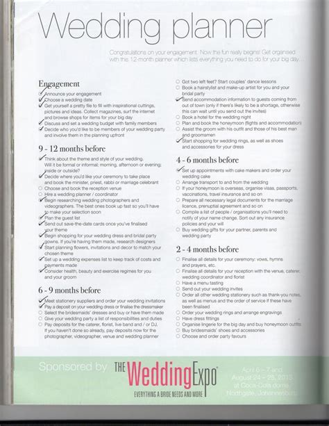 Wedding Checklist Sa by 93 Best Wedding Planner Images On Weddings
