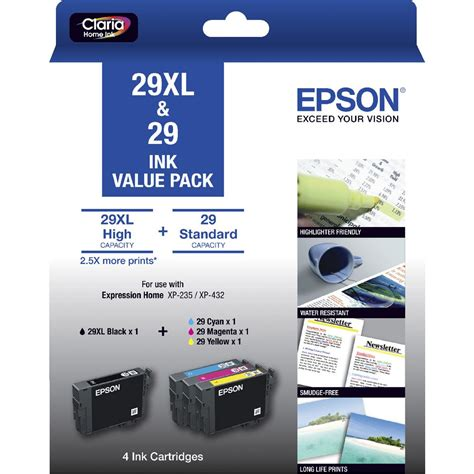 Kitchen Cabinets Software Free Epson 29xl Black And 29 Colour Ink Cartridges Value Pack